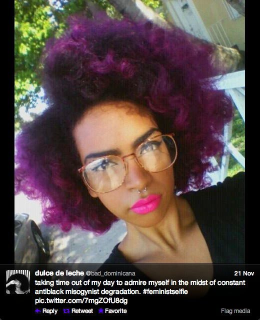 @bad_dominicana's #feministselfie (via Twitter)