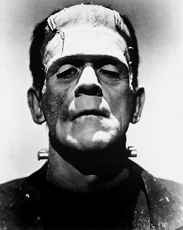 Bors Karloff as Frankenstein in the 1935 film. Image via WikiCommons.
