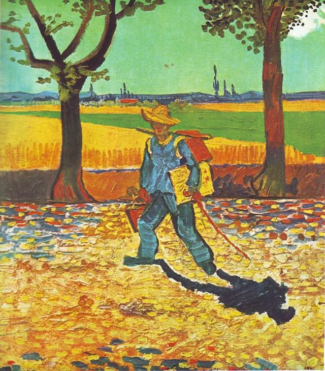 "Vincent van Gogh, ""Painter on His Way to Work"" (1888), oil on canvas (via Wikimedia)"