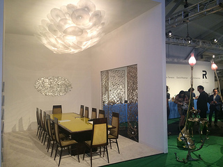 One of the many elegant displays at Design Miami.