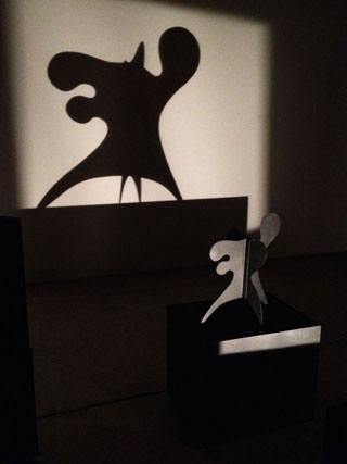 """Alexander Calder's """"Ex-Octopus"""" and its shadow (click to enlarge)"""
