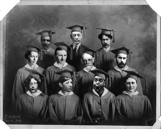 """The """"Class of 2014"""" whose work enters the public domain: From left to right from top to bottom: George Washington Carver, Sergei Rachmaninoff, Shaul Tcherinchovsky, Sophie Taeuber-Arp, Nikola Tesla, Kostis Palamas, Max Wertheimer, Simone Weil, Chaïm Soutine, Fats Waller, and Beatrix Potter (via the Public Domain Review)"""