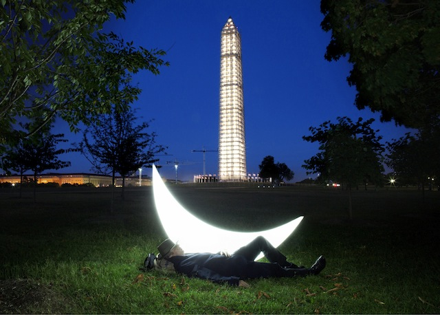 """""""Private Moon"""" at the Washington Monument in Washington, DC"""