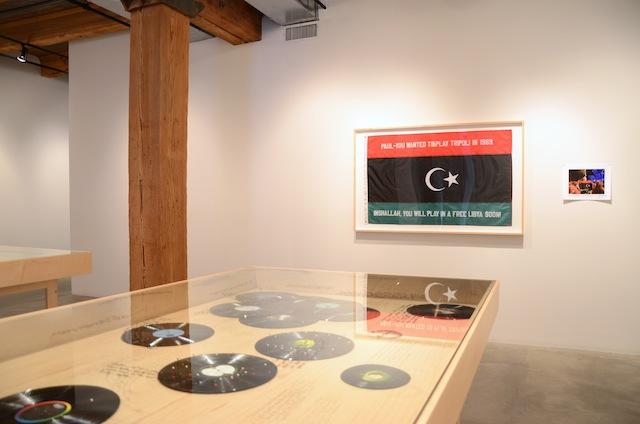 """Installation shot of Michael Rakowitz's exhibition """"The Breakup"""" (2014) at Rhona Hoffman Gallery."""