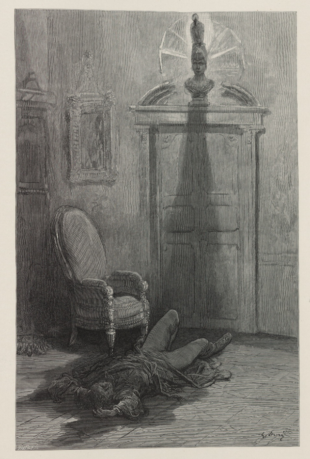 """Edgar Allan Poe's """"The Raven"""" illustrated by Gustave Doré"""