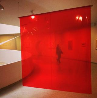 "Tsuruko Yamazaki, ""Entrance"" (1955/2013) at the Guggenheim's Gutai exhibition (photo by the author for Hyperallergic)"