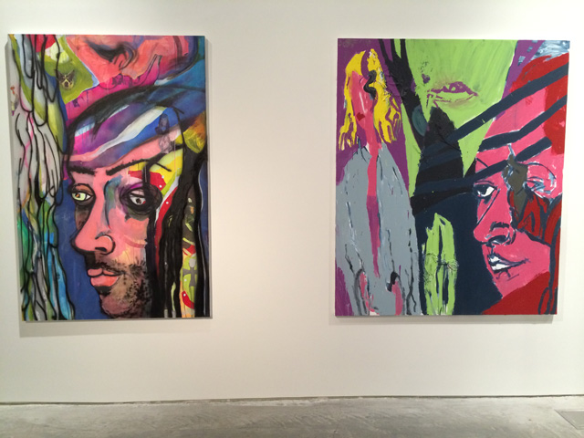 The Milli Vanilli recreations in the WOW opera exhibition. (photo by the author for Hyperallergic)