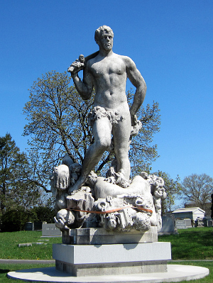 """""""Triumph of Civic Virtue"""" in Green-Wood Cemetery (photograph by the author)"""