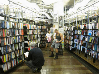 Inside St. Mark's Bookshop (photo by Ayun Halliday, via Flickr) (click to enlarge)