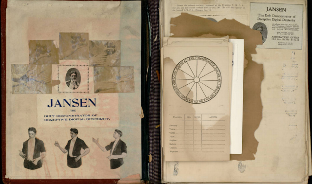 "Herr Jansen scrapbook titled ""Magician's Doings"" (1854-1905)"