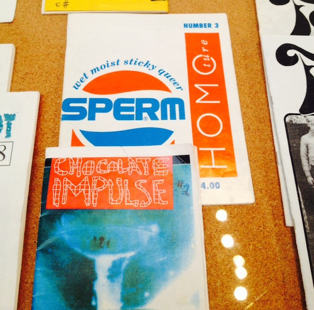 SPERM at the Queer Zines Exhibition