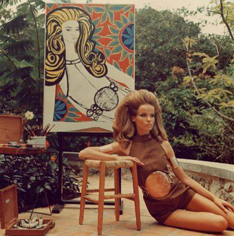 The model Veruschka in Ulrike Ottinger's 'Dorian Gray in the Mirror,' which Dirty Looks NYC will screen on March 26. (image via Facebook)