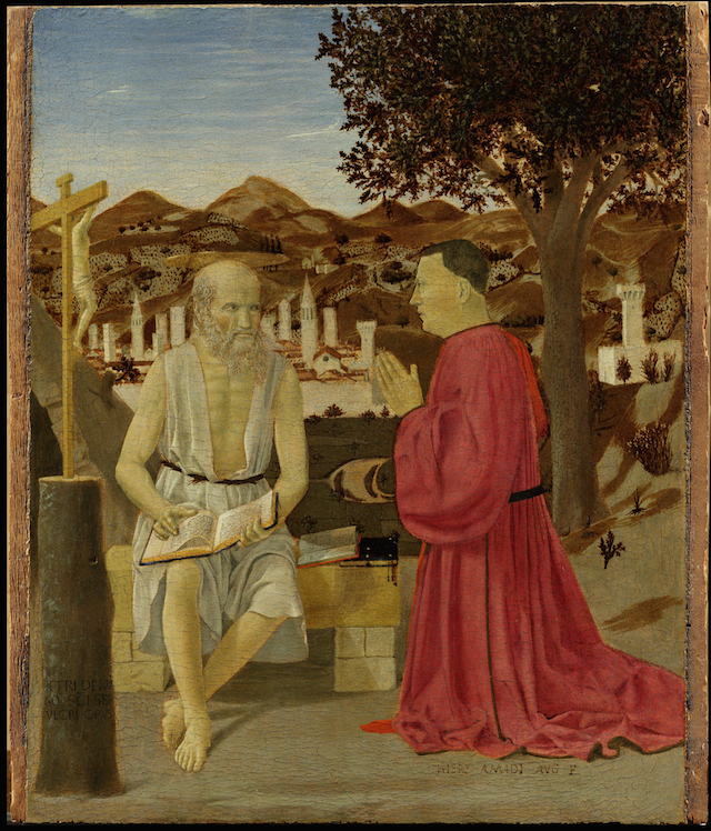 Piero della Francesca_Saint Jerome and Supplicant