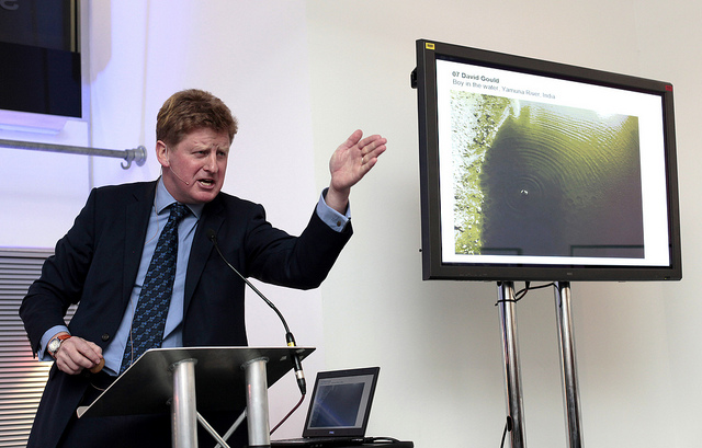 Sotheby auctioneer Adrian Biddell in action (photo by Financial Times, via Flickr)