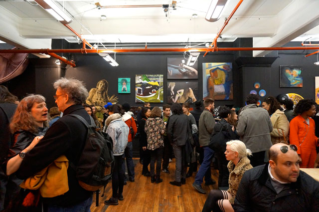 The crowd at the 2014 Whitney Houston Biennial
