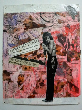 A collage featuring Whitney Houston (artist unknown) (click to enlarge)