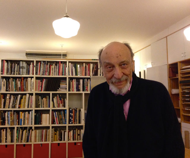 Milton Glaser in his studio (photo by the author for Hyperallergic)
