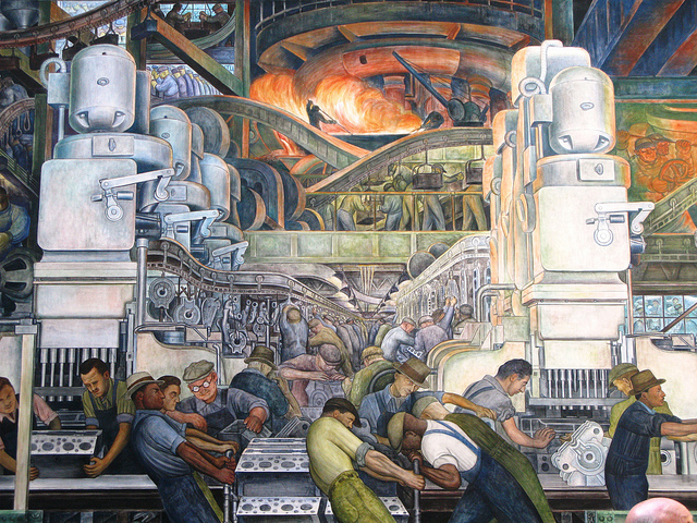 "Diego Rivera, ""Detroit Industry"" (photograph by cdschock, via Flickr)"