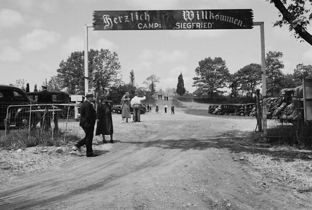 Camp Siegfried, Yaphank, Long Island, Nazi summer camp run by the German American Bund, May 22, 1938.