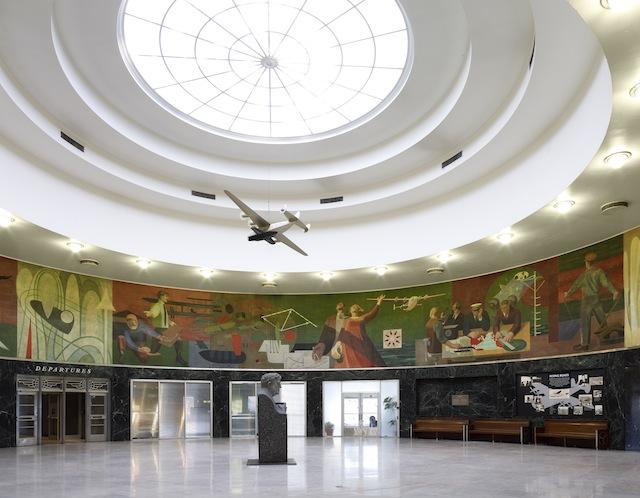 "James Brooks, ""Flight"" (1942) in the Marine Air Terminal at LaGuardia Airport"