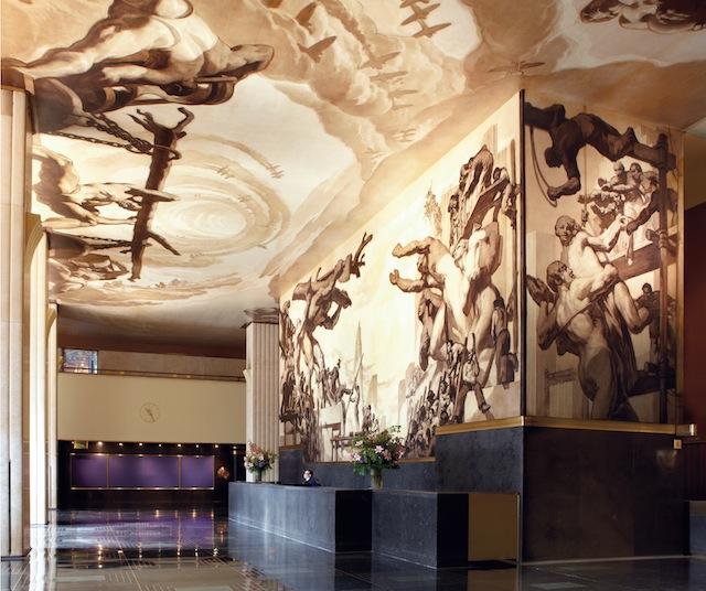 Josep Maria Sert's murals at Rockefeller Center