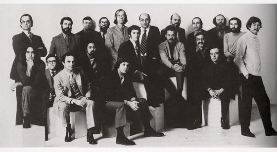 The staff of Push Pin Studios (image via miltonglaser.com)