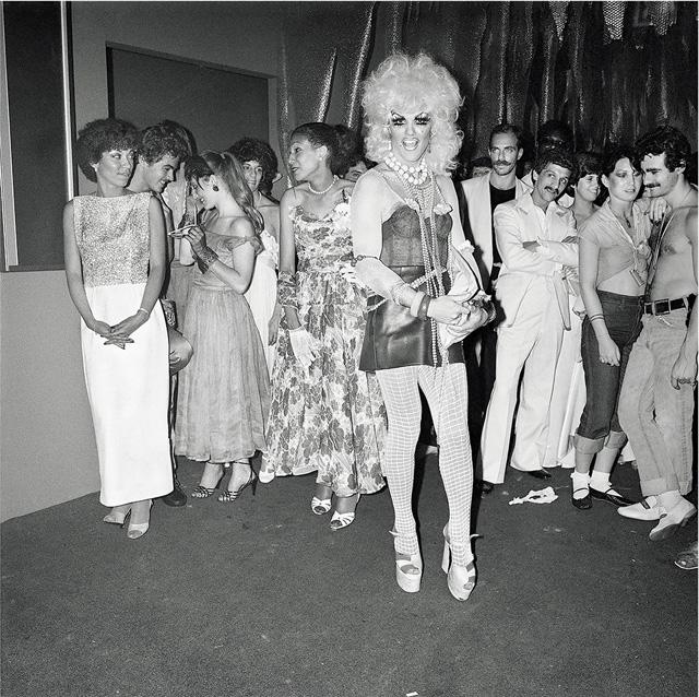 "Meryl Meisler, ""Prom Queen Contender"" (Les Mouches, Manhattan, June 1978)"