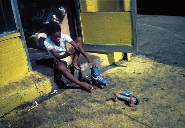 "Meryl Meisler, ""Roller Skates"" (Bushwick, Brooklyn, circa 1984)"
