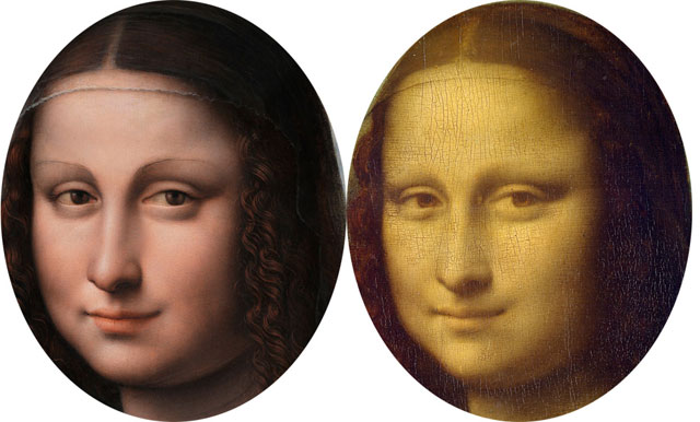 The Mona Lisa face in 3D/stereoscopic pair
