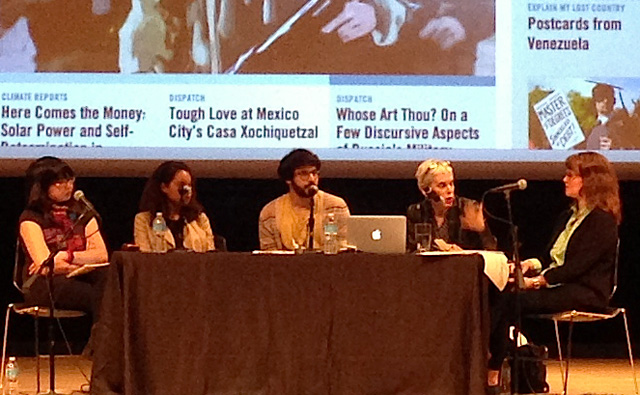 Last Thursday's panel on digital contemporary arts writing at the Brooklyn Museum (all photographs were taken by the author for Hyperallergic)