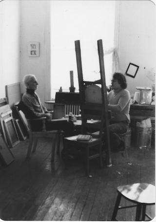 Schneeman & Edwin Denby photo