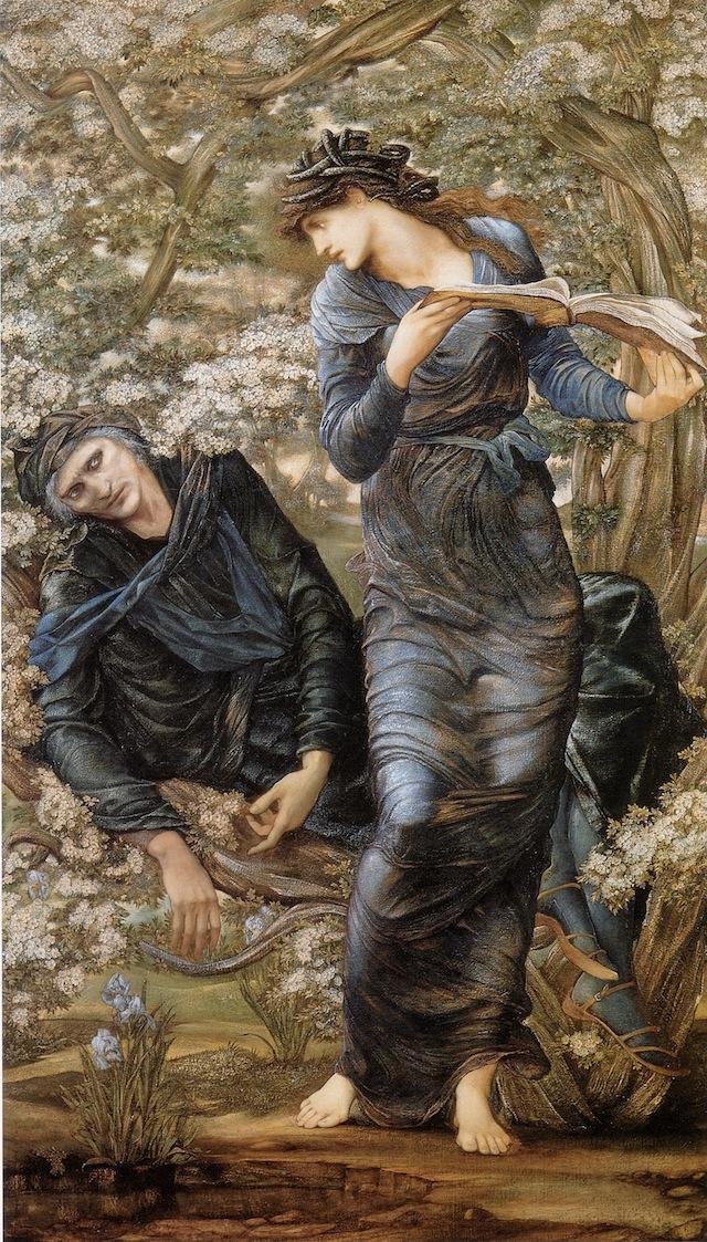 "Edward Burne-Jones, ""The Beguiling of Merlin"" (1874), oil on canvas (via Wikimedia)"