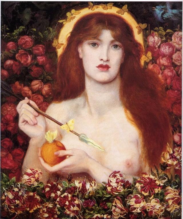 """Dante Gabriel Rossetti, """"Venus Verticordia"""" (1868), oil on canvas (via Wikimedia)"""