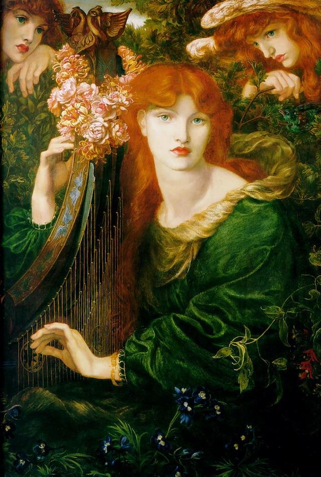 "Dante Gabriel Rossetti, ""La Ghirlandata"" (1873), oil on canvas (via Guildhall Art Gallery)"