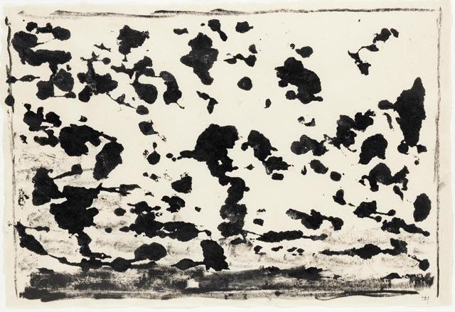 Henri Michaux _Sans Titre_ (1960), India ink drawing, 40x60 cm