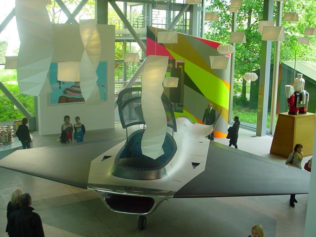 Vivid Memories installation view at Fondation Cartier (main floor gallery - left)