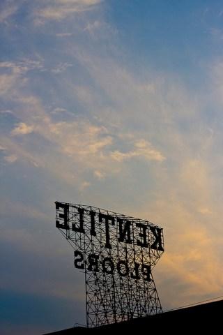 Kentile Floors sign in Gowanus (photograph by Santos Gonzalez, via Flickr)
