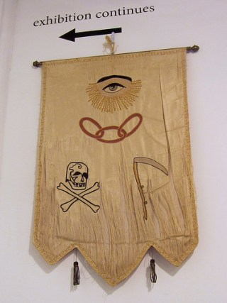 Order of Odd Fellows antique banner