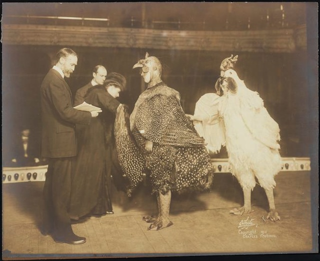 """Chantecler"" theater still (1911), gelatin silver print (©The New York Public Library, via Museum of the City of New York)"