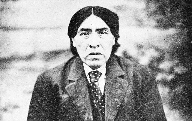 """Ishi in 1915, from T. T. Waterman's """"The last wilde tribe of California"""" (via Popular Science Monthly)"""