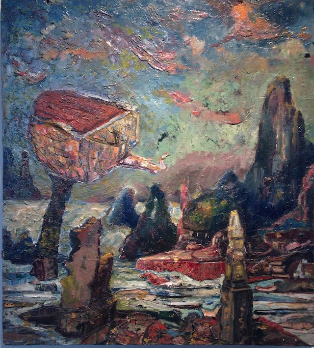 "Vilaykorn Sayaphet, ""Untitled"" (2014),  oil on board, 20 x 18 inches"