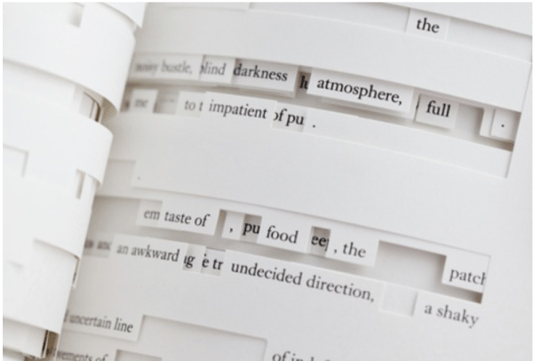 Figure 5. Image of Jonathan Safran Foer's Tree of Codes (2010) (via Visual Editions).
