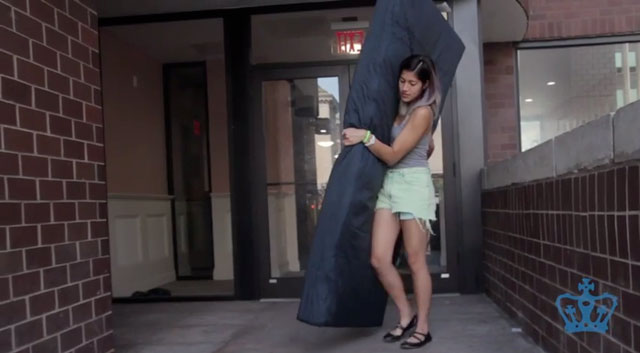 Emma Sulkowicz Performing Carry That Weight Or Mattress Performance Screenshot Via You