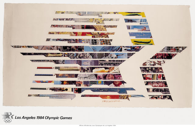 Robert Rauschenberg, LA Olympics poster (1984) (Knapp Communications Corporation, ed.)