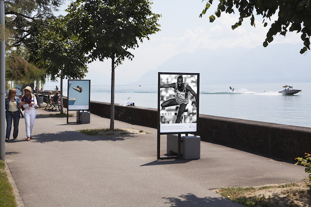 LA Olympics images on the Quais d'Ouchy (courtesy Olympics Museum)