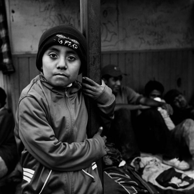 A Central American child migrant
