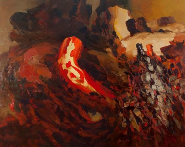 "Dana Saulnier, ""Untitled 9/12"" (2012), oil on canvas, 56"" x 70"""