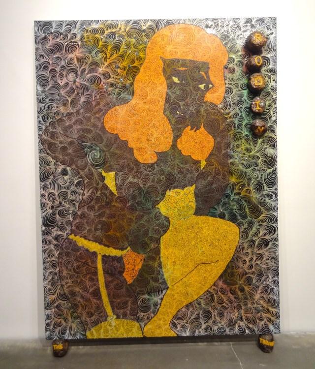 """Chris Ofili, """"Rodin... The Thinker"""" (1997–98)"""