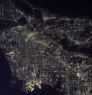 NASA photo of LA at night