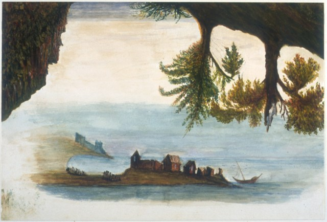 Unknown, Seascape with upside down view (patient artwork, Chricton Royal Hospital), Borthwick Institute for Archives